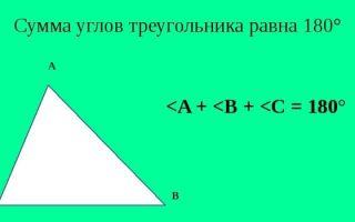 Сумма углов треугольника. теорема о сумме углов треугольника — студенческий портал