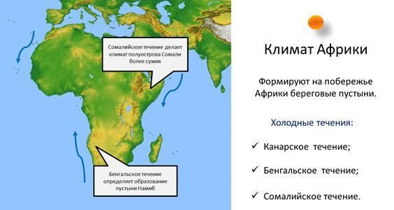 Особенности климата Африки - Студенческий портал