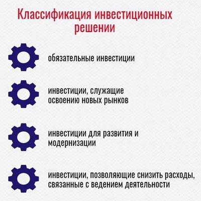 Критерии принятия инвестиционных решений - Студенческий портал