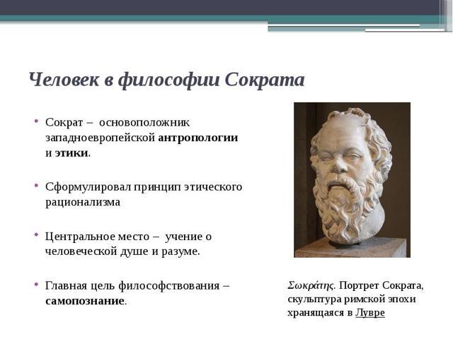 Проблема человека в истории философии - Студенческий портал